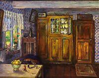 Interior by German  Clarita Beyer. Canvas Life Art.  11x14 Print