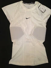 Nike Pro Hyperstrong Mens 2Xl White 2 Rib Pad Football Fitted Shirt White 806900