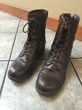 """White Mountain Brown """"Frontier"""" Combat Style Boots Size 9M Side & Back Zip"""