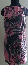 ROBERT RODRIGUEZ DRESS SIZE 8 OPEN BACK LINING COCKTAIL WITH ROBE BELT