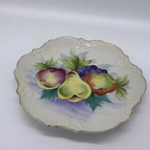 hand painted plate fruit