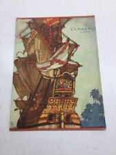 Cunard Line R.M.S. Lancastria Dinner Menu Saturday July 13, 1929