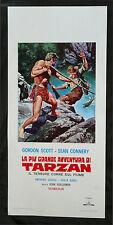 CINEMA-locandina IL TERRORE CORRE SUL FIUME TARZAN scott, s. connery,GUILLERMIN