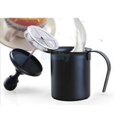 1PC Coffee Tea Milk Bubble Pot Hand Pump Foamer Mesh Maker Steamer 400cc