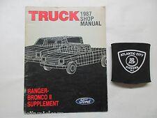 1987 FORD RANGER / BRONCO II TRUCK SERVICE SHOP MANUAL SUPPLEMENT