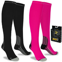 Compression Socks Knee High Anti Fatigue Flight Running Varicose For Men Ladies
