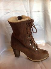 Carvela Brown Ankle Leather Boots Size 38
