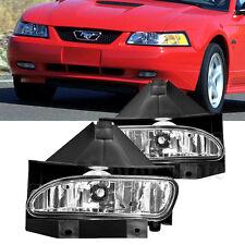 1999-2004 Ford Mustang Fog Lights Driving Lamps GT V6 Smoke FL7137