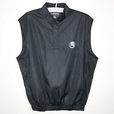 Footjoy Golf Vest Black Lakeview Golf Club Snap Button Size Medium Mens