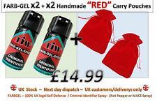 "Farbgel TIW x2 + x2 de velours ""Rouge"" Pochette = Self Defence Spray/Criminal ID Spray"