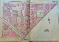1925 PHILADELPHIA PENNSYLVANIA THE BADLANDS MCPHERSON SQUARE PLAT ATLAS MAP