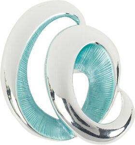 Magnet Schmuck Brosche Spirale einfarbig matt schimmernd lackiert für Schals