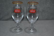 2x Stella Artois Global Chalice 1 Pint Beer Glass Toughened & Enamel Nucleated