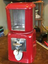 Vintage Universal Gumball Candy Peanut Vending Machine 5 Cent Excellent Working