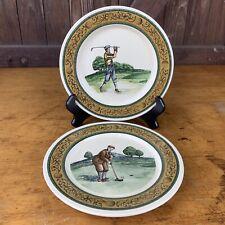 2 Vtg CBK Taiwan ROC Golf Masters Decorative Plates Dated 1993
