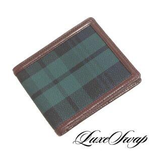 DEADSTOCK NWOT Vintage Polo Ralph Lauren Green Blackwatch Tartan Bifold Wallet