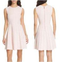 Ted Baker London Woman's 4 US 12 Pink Sleeveless Vellia Flippy Knit Skater Dress