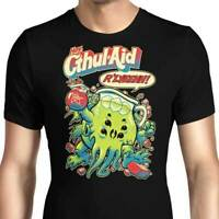 Hey Cthul-Aid The Call Of Cthulhu Funny Black T-Shirt H. P. Lovecraft S-6XL