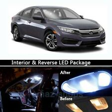 10Pcs Interior & Reverse LED Lamp Light Package Kit for 2013-2017 Honda Civic