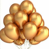 100Pc Gold Latex Metallic Pearl Helium Balloons Air Wedding Birthday Party Decor