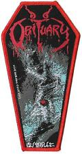 OBITUARY  Limited edition patch  - WOVEN SEW ON PATCH - free shipping