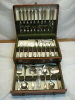 1847 Rogers Remembrance 81pc Silver Plate Flatware Set w/Box Heavy Weight svc 12