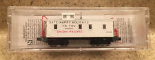 New Micro Trains Union Pacific 34' Wood Sheathed Caboose Happy Holidays N-Scale