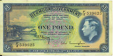 Bermuda Government May 12 1937 One Pound p-11B aVF King George VI
