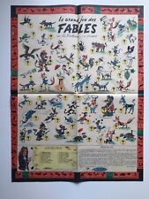 TINTIN LE GRAND JEU DES FABLES SUPPLEMENT JOURNAL / HERGE / LA FONTAINE COUTANT