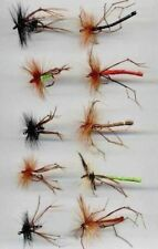 Trout Flies: Daddies & Hoppers size 10 & 12 hooks x 10  (code 058)