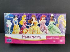 Disney Panoramas Princess 750 Pcs Puzzle MEGA Complete Belle Ariel Aurora Tiana