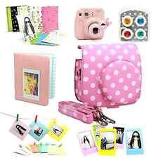 Fujifilm Instax Mini 8 Instant Camera Accessory Bundles Set Color Lens Pink New