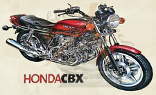 Honda CBX Red Fridge Magnet