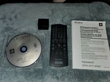 PlayStation 2 PS2 DVD Remote with Manual Media