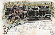 1876/ Litho AK, Gruss vom Bahnhof Niederhohne, 1899