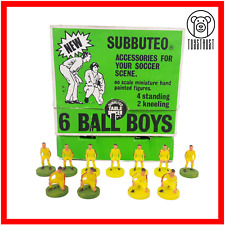 More details for subbuteo ball boys figures vintage set c134 table football retro soccer toy s16