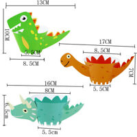 12Pcs Cartoon Dinosaur Cupcake Wrapper Paper Birthday Party Supplies Cake FE