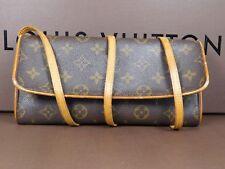 Louis Vuitton Twin Pochette Bag Travel Wallet Clutch Messenger Crossbody LD184