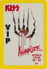 Kiss Animalize Tour  ORIGINAL 1984 - 1985 VIP Guest Backstage Pass - Otto unused