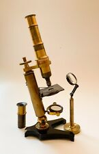 Good Quality Cased Antique French Microscope with Fine Focus