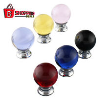 Crystal Glass Cabinet Drawer Furniture Glass Pull Handle Knobs Modern Round Styl