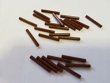 Lego Reddish Brown Bar 3L, Part 87994 17715, Element 6075208, Qty:25 - New