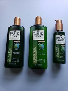 Thicker Fuller Hair Cell-U-Plex Revitalizing Shampoo ~ Conditioner ~ Serum   Set