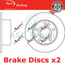2 X Apec BRAKING 245mm Solide Original Qualität Ersatz Bremsscheiben (Paar)