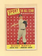 1958 Topps Mickey Mantle NY Yankees All Star #487 Ex-NM