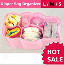 baby mother nappy diaper bag organizer-pink,white,blue(S,M,L)