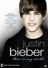 Justin Bieber - This Is My World (DVD, 2011) 'LIKE NEW'