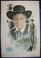 Gary Cooper 11x16 Print from 1973 John Ford Cowboy Kings of Western Fame