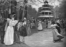 Múnich ** jardín inglés ** música de baile, el chino torre ** 1898 **