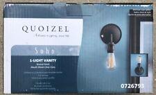 """Quoizel SOHO 1-Light 6"""" Matte Bronze Glass Globe Bathroom Vanity Sconce Light"""